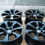 black bmw 535i rims
