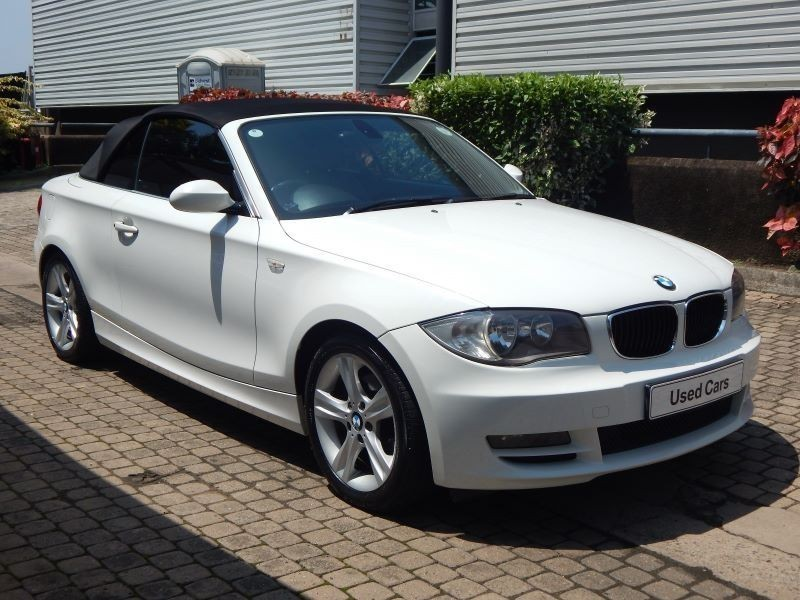 black bmw 1 series convertible for sale photo - 1