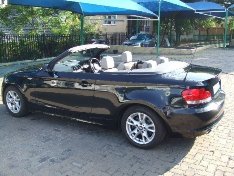 black bmw 1 series convertible for sale photo - 4