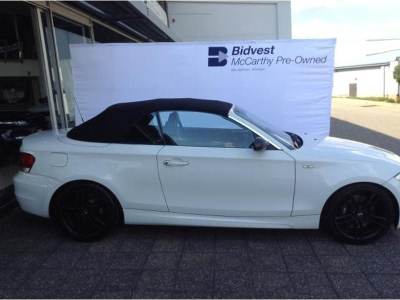black bmw 135i convertible for sale photo - 1