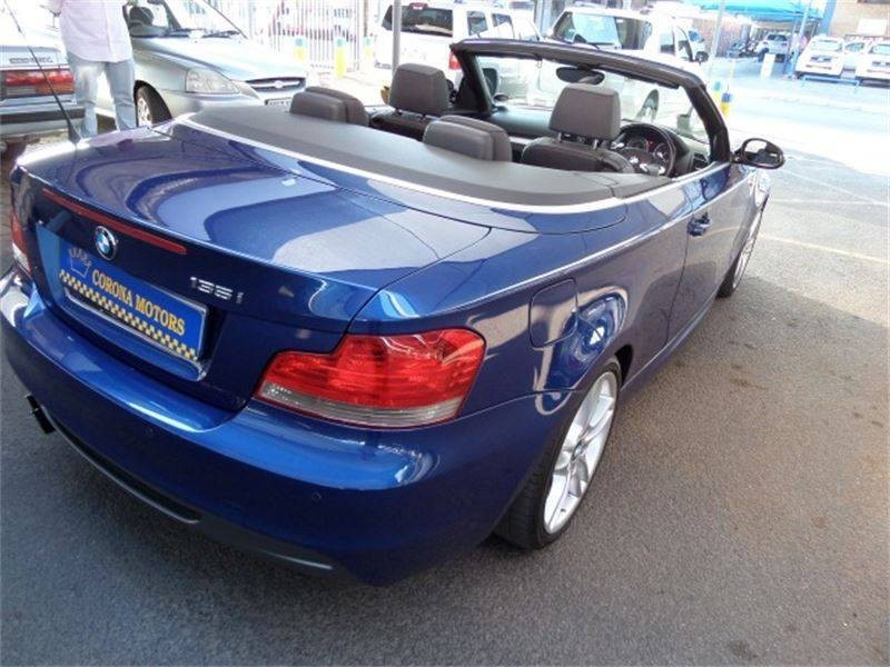 black bmw 135i convertible for sale photo - 2