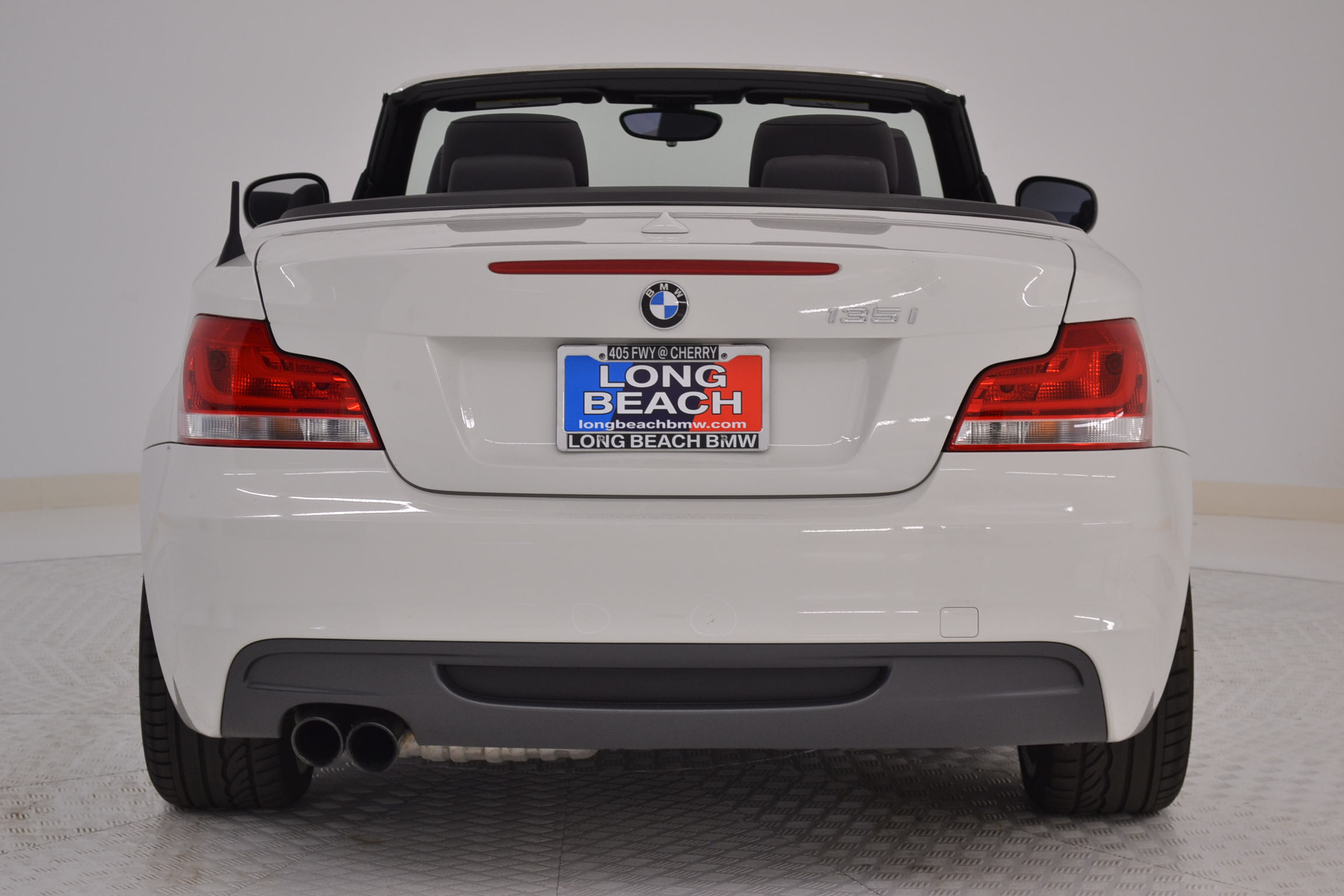 black bmw 135i convertible for sale photo - 4
