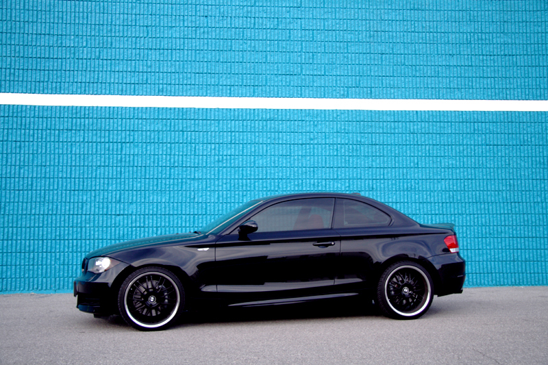 black bmw 135i rims photo - 5