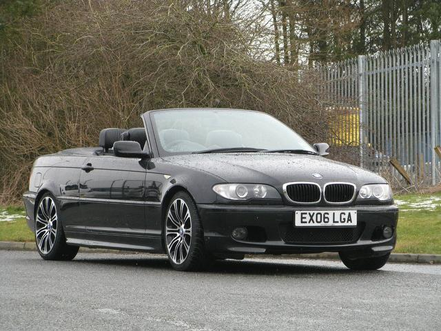 black bmw 3 series convertible photo - 2