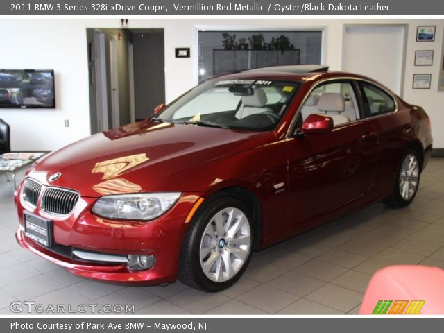 black bmw 3 series with red interior photo - 1