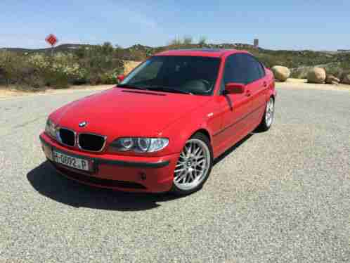 black bmw 3 series with red interior photo - 5