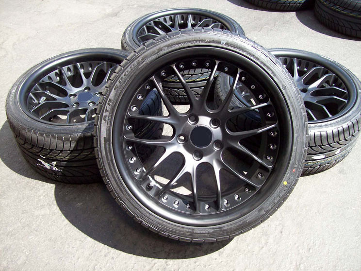 black bmw 325i wheels photo - 1