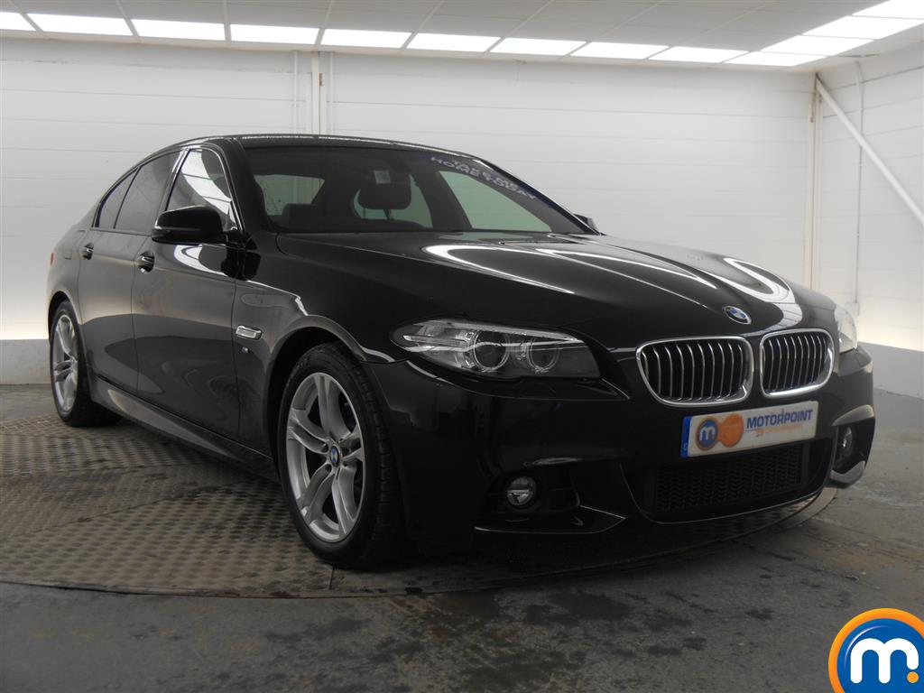 black bmw 5 series m sport for sale photo - 1