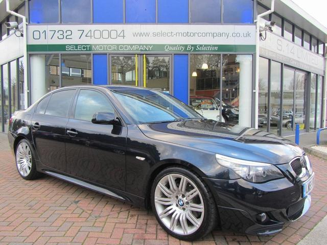 black bmw 5 series m sport for sale photo - 3