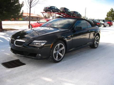 black bmw 6 series convertible for sale photo - 4