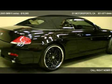 black bmw 6 series convertible for sale photo - 5