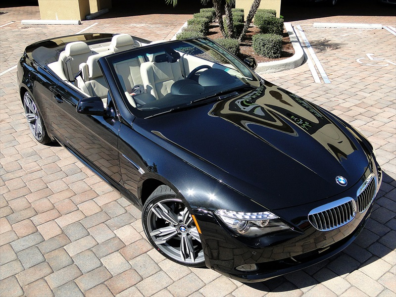 black bmw 650i convertible for sale photo - 6