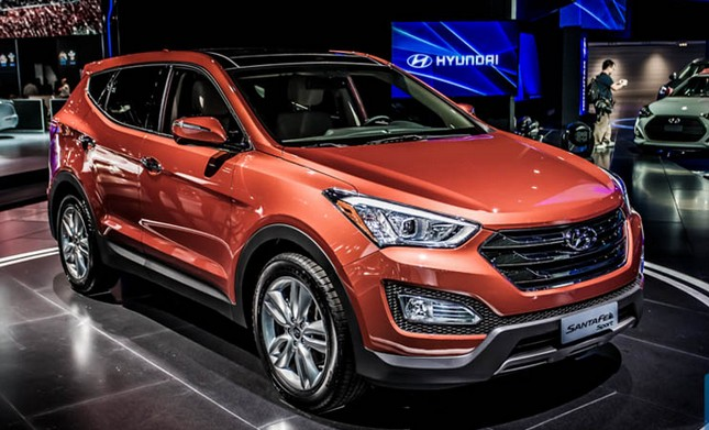 2019 Hyundai Santa Fe Blue Hybrid Concept Photo 1