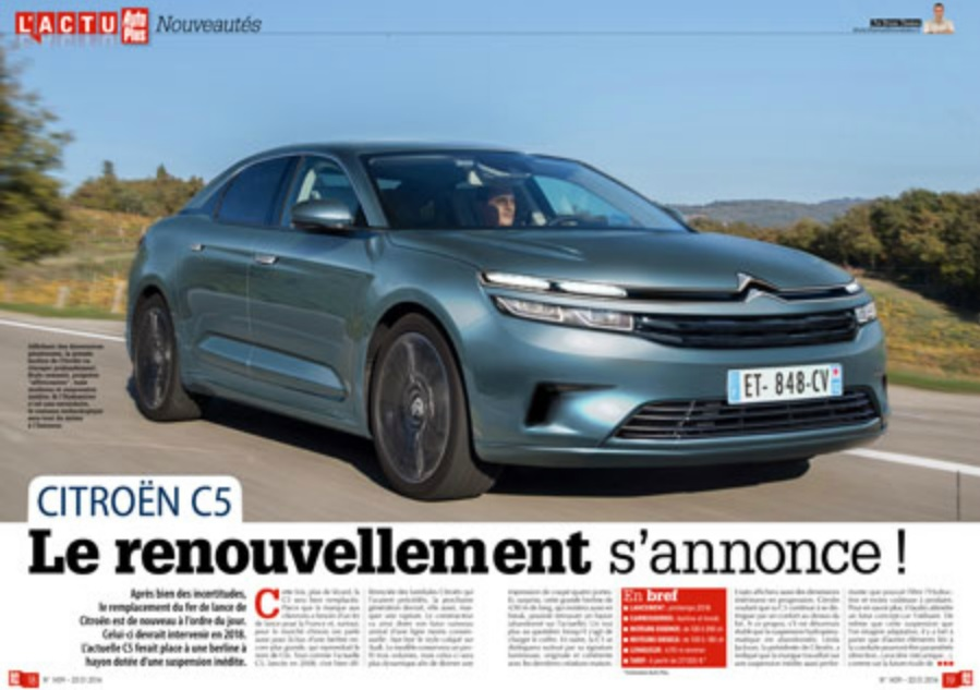 2018 Citroen C6 is going to get quite a few visual updates over it ...