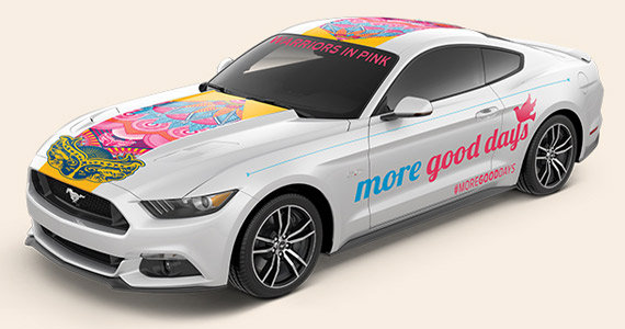 2018 Ford Mustang Warriors In Pink photo - 3