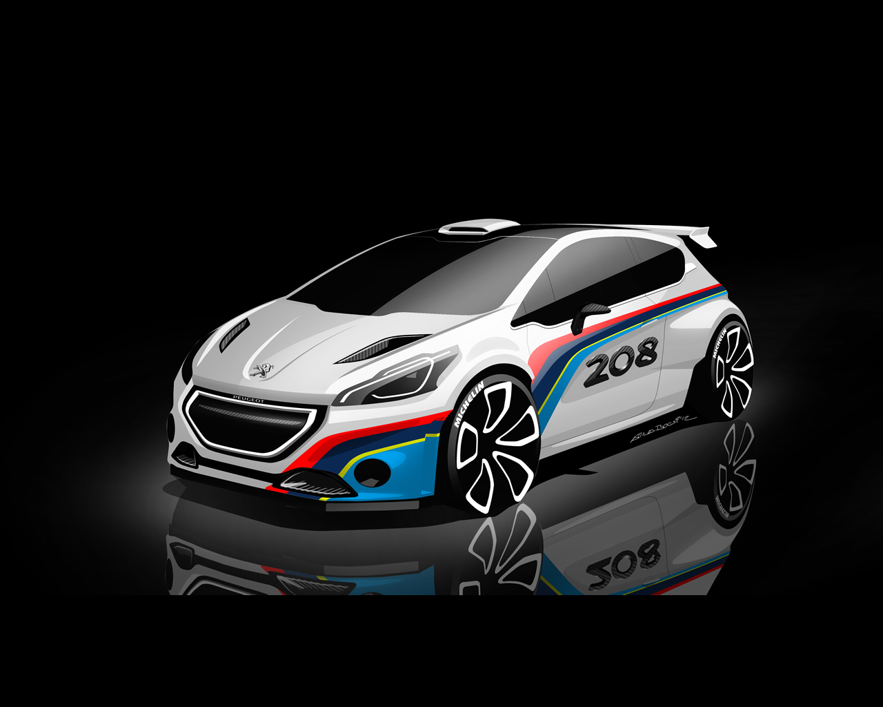 2019 Peugeot 208 R5 Rally car photo - 3