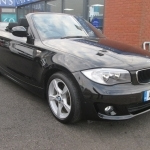 black bmw 1 series convertible for sale