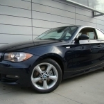 black bmw 128i coupe