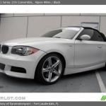 black bmw 135i convertible