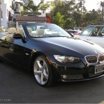 black bmw 3 series convertible