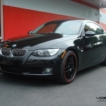 black bmw 3 series coupe