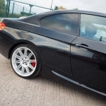 black bmw 320d m sport coupe