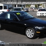 black bmw 325i coupe