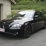 black bmw 535i wheels