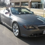 black bmw 645ci convertible
