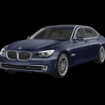 black bmw 7 series 2013