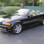 black bmw convertible 3 series