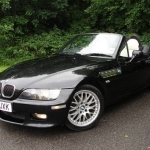 black bmw z3 roadster